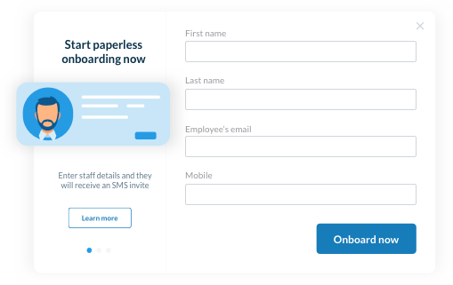 Onboard multiple employees quickly