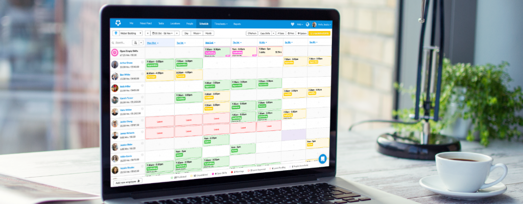 Arrange employee schedules responsibly