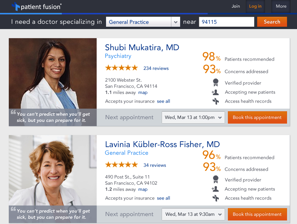 Patient Fusion-search and reviews