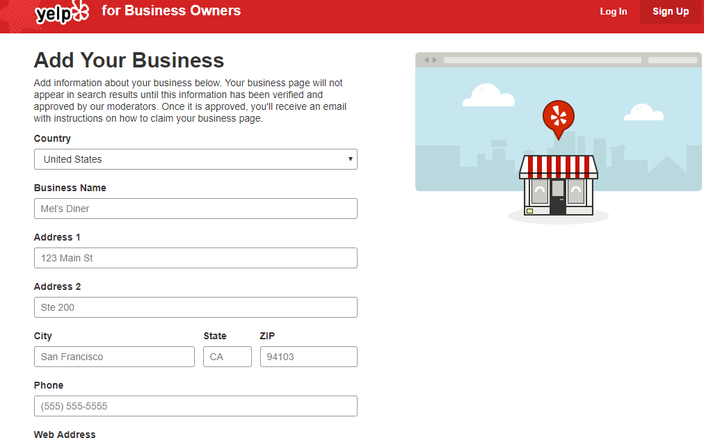Yelp-Add Your Business