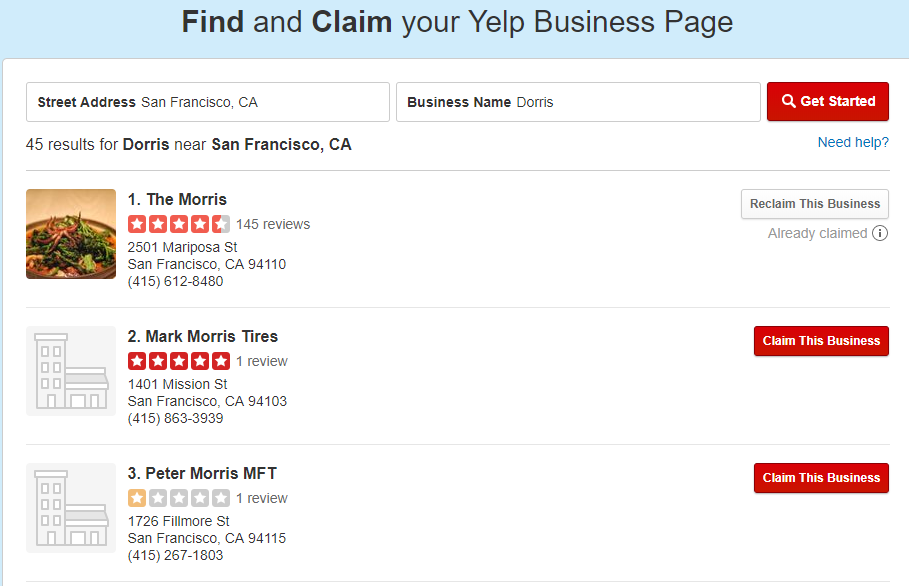 Yelp-Claim your business