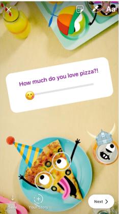 Instagram story poll
