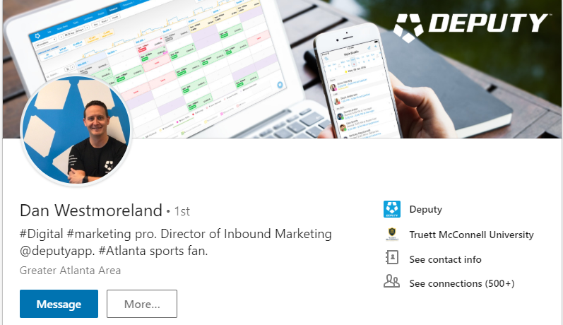 Dan Westmoreland LinkedIn