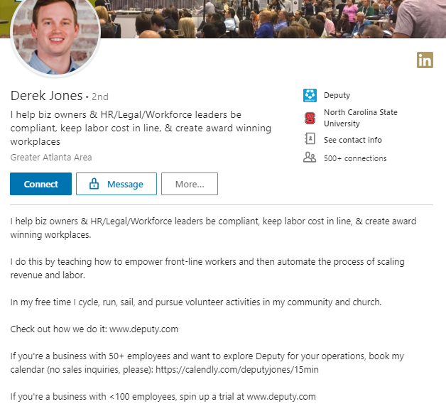 Derek Jones LinkedIn