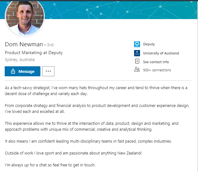 Dom Newman LinkedIn