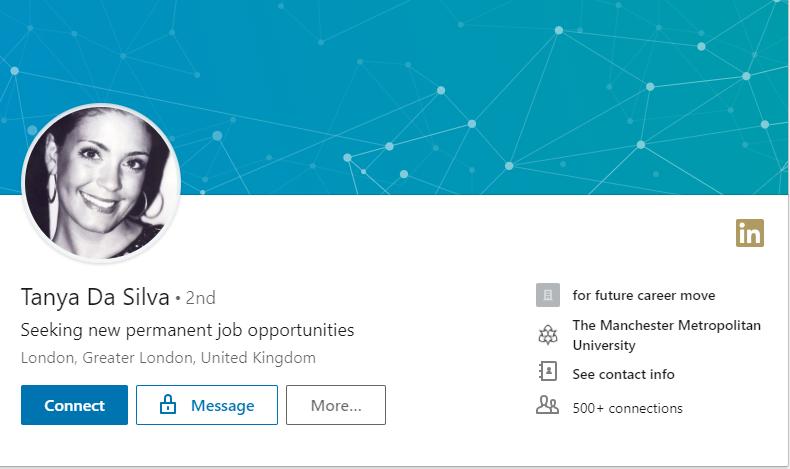 Tanya Da Silva LinkedIn